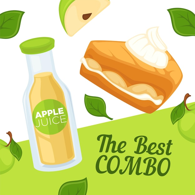 Best combo of apple cider and cake, ads banner