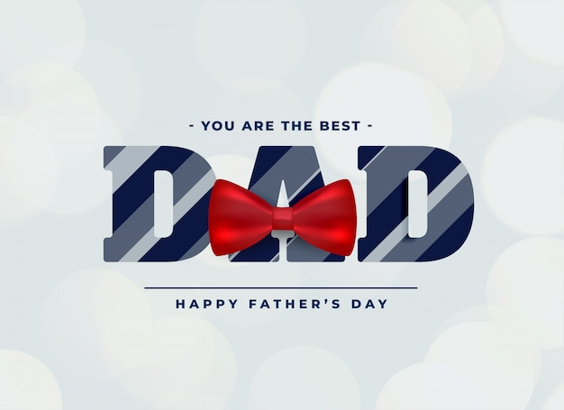 Best dad background with red bow