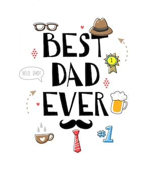 Best dad ever doodle