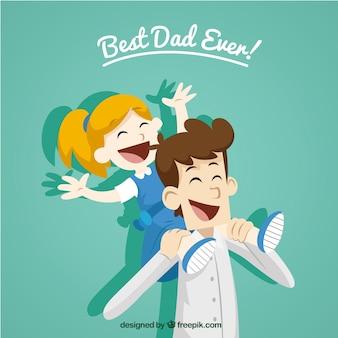 Best dad ever! Premium Vector