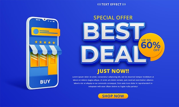 Best deal banner template in bright colors