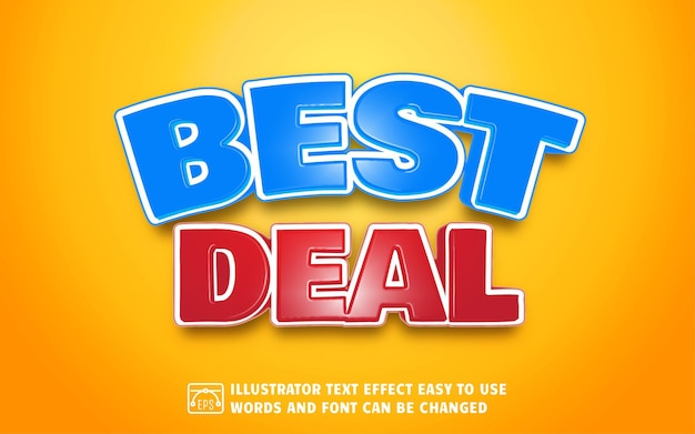 Best deal - editable text effect style