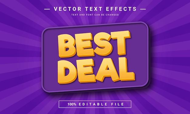 Best deal editable text effect
