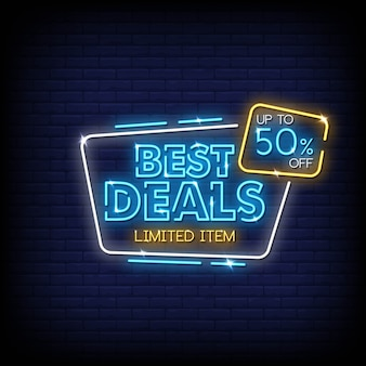 Best deals neon signs style text