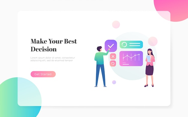 Best decision business landing page illustration