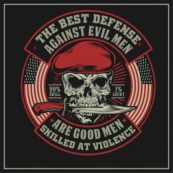 The best defense against evil men