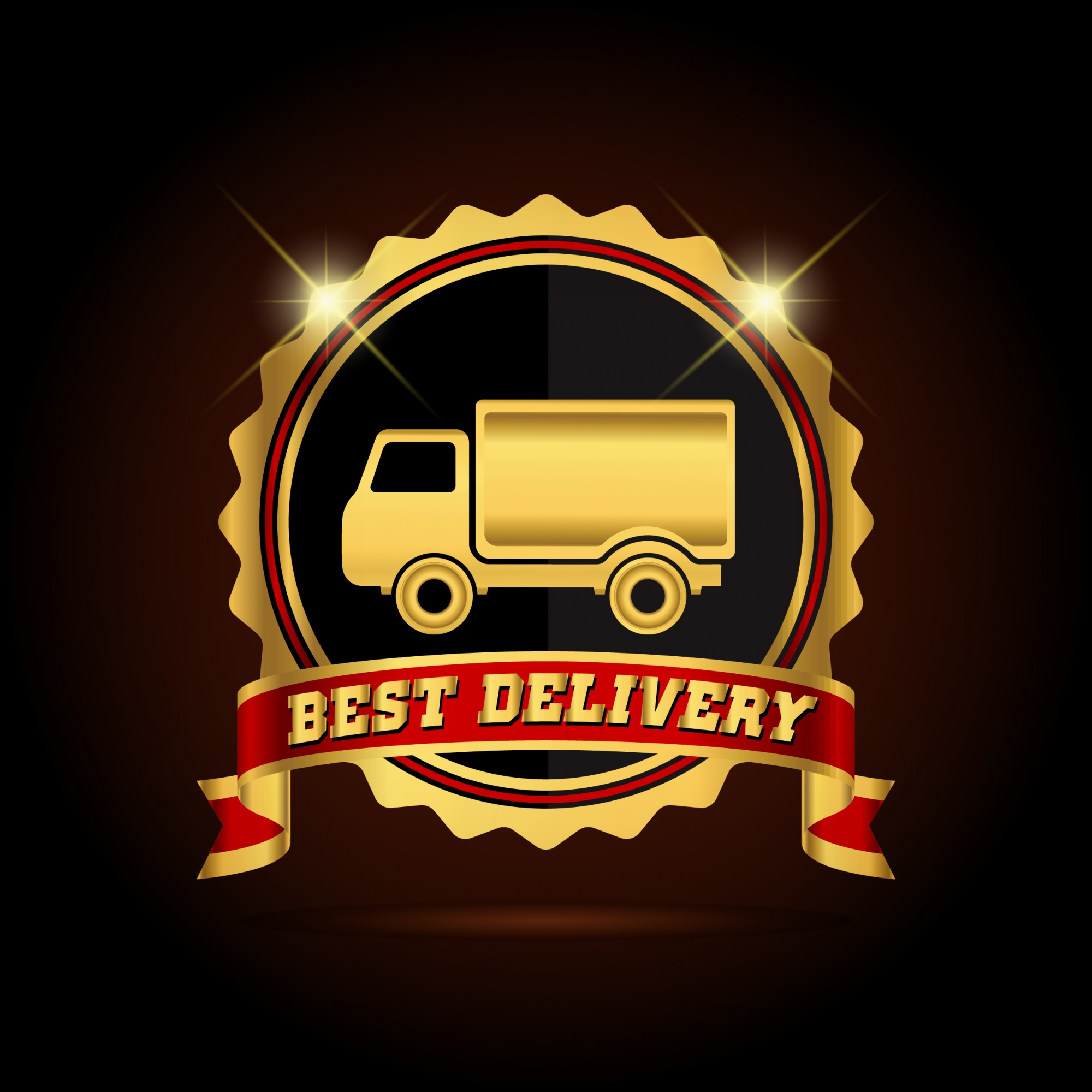 Best delivery logo background