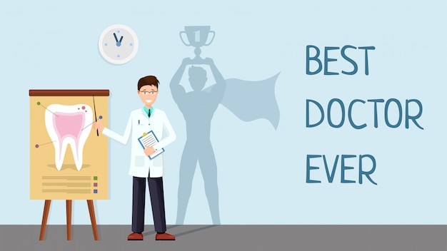 Best doctor ever banner template