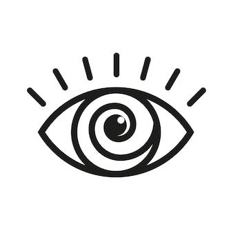 最高の目のアイコンベクトルデザインテンプレートロゴ