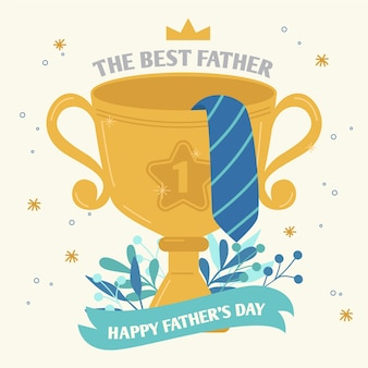 The best father golden cup prize