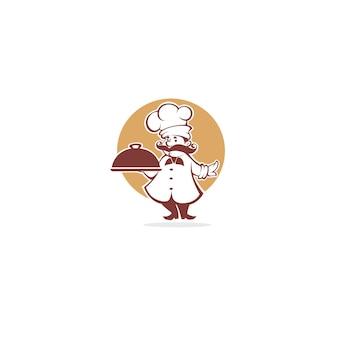 最高の料理、シェフのシンボルロゴ