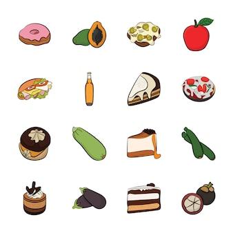 Best food icons Premium Vector