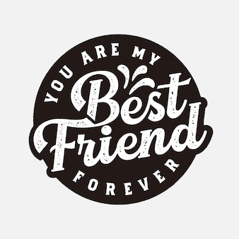 Best friend forever label