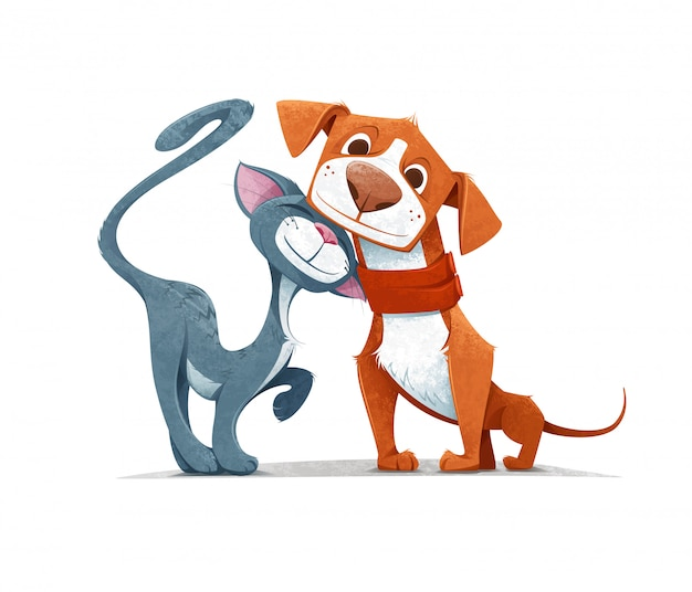 Cat & dog- Favorite friendship