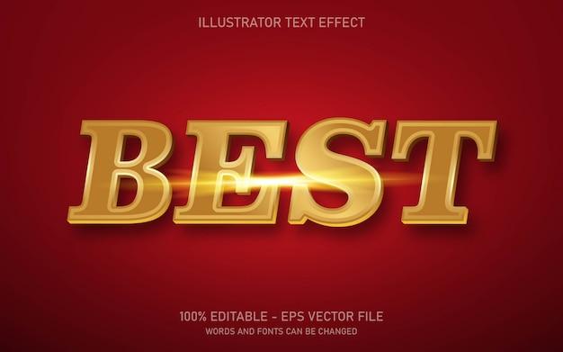 Редактируемый текстовый эффект, иллюстрации в стиле best gold