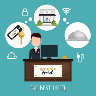 Лучший набор гостиничных услуг значки