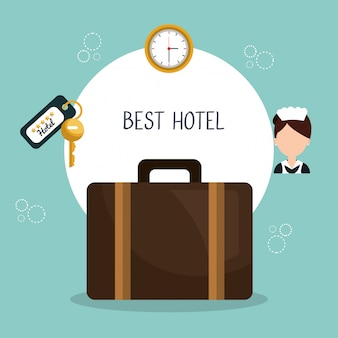 Best hotel set services icons