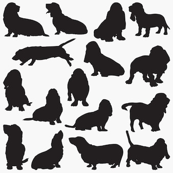 Best hound dog silhouettes