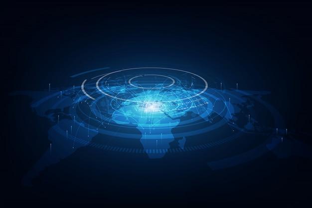Best internet of global business background