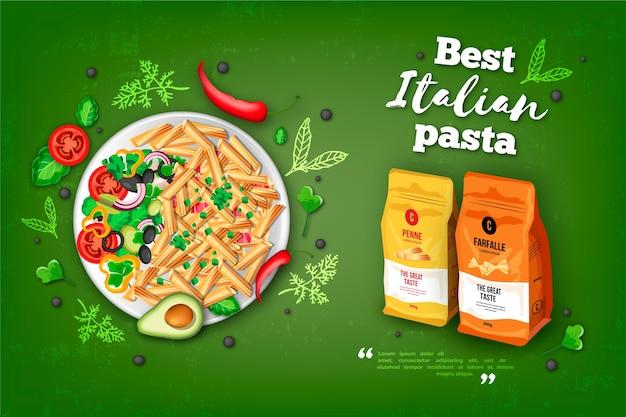 최고의 이탈리아 파스타 음식 광고
