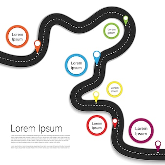 Best journey route. road trip. business and journey infographic