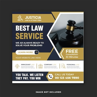 최고의 법률 서비스 및 법률 상담 소셜 미디어 게시물 및 instagram 배너