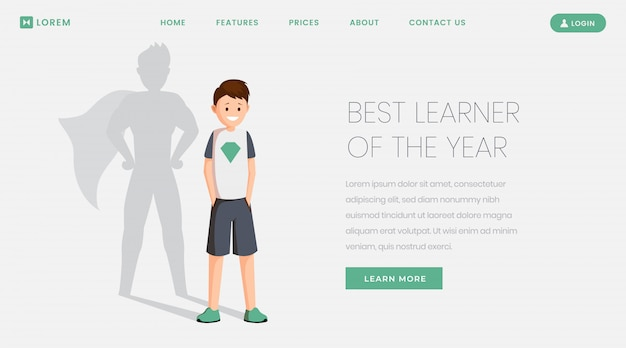 Best learner landing page template