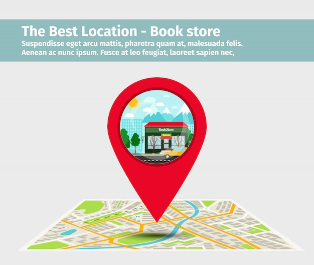 The best location book store