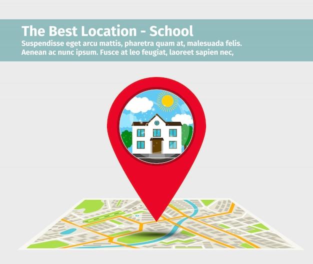 The best location school