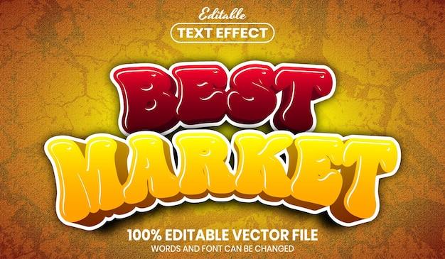 Best market text, font style editable text effect