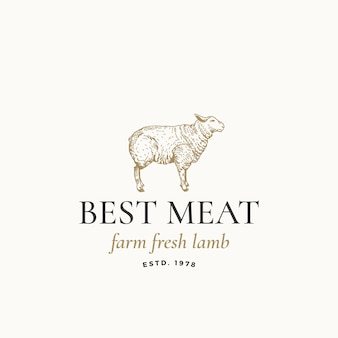 Best meat farm fresh lamb logo