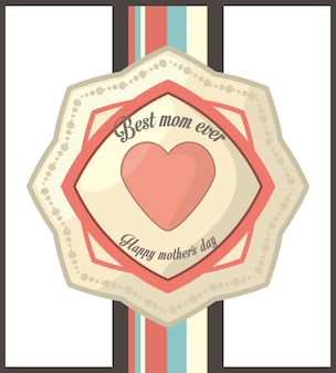 Best mom ever happy mother day vintage style card