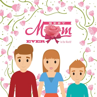 Best mom ever in the world - family card
