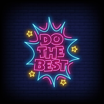 Do the best neon signs style text