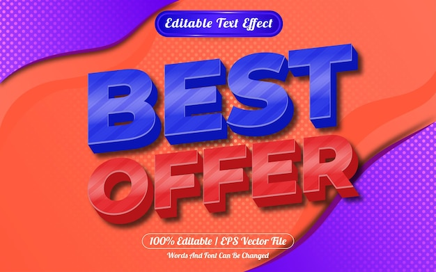 Best offer 3d editable text effect abstract background
