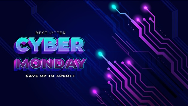 최고의 사이버 월요일 배경 제공