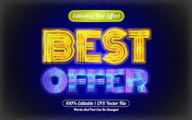 Best offer editable text effect light themed