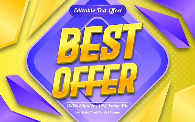 Best offer editable text effect with abstract background