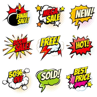 Best offer and sale promotional bubbles