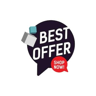 Best offer shop now lettering