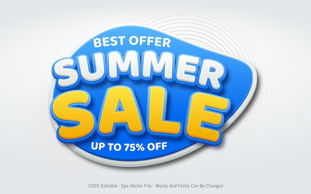 Best offer summer sale template