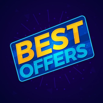 Best offers shopping sale label