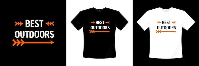 Лучший дизайн футболки типографии на открытом воздухе.