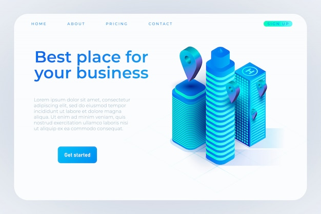 Best place for your business landing