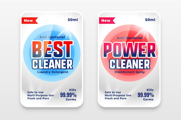 Best power and detergent cleaner template