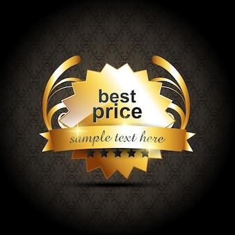 Disegno vettoriale migliore etichetta di prezzi di vettore