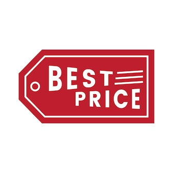 Best price promotional badge vector