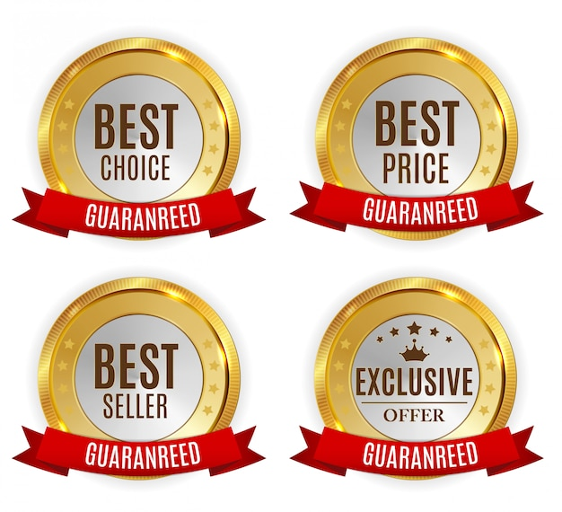 Best price, seller, choice and exclusive offer golden shiny label