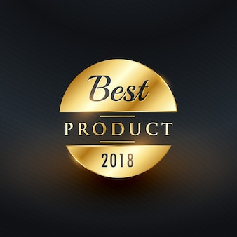 Best product of the year golden label design