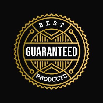 Best products guaranteed badge
